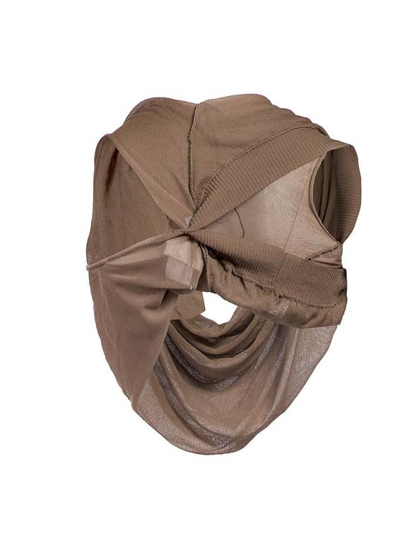 Brown Rare Vintage Maison Martin Margiela Artisanal Taupe Twisted Top For Sale