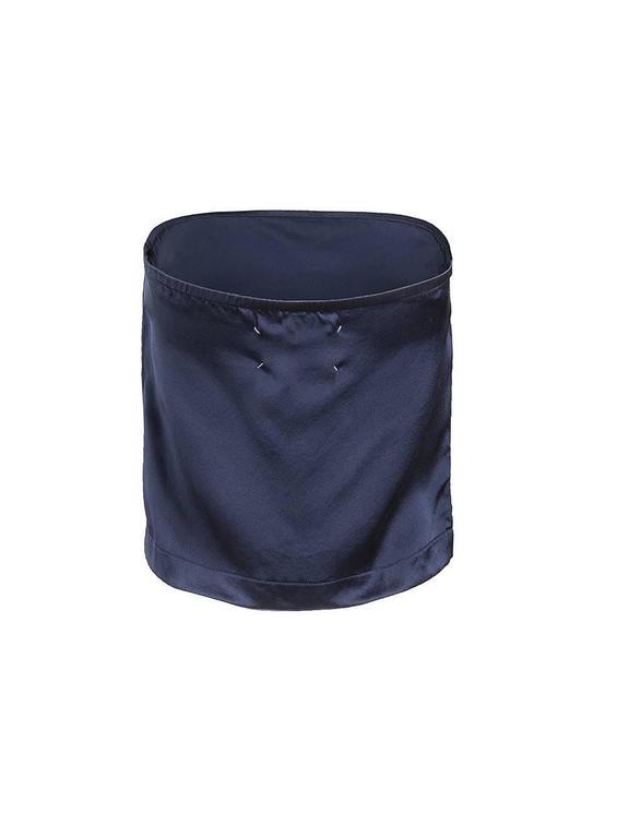 Maison Martin Margiela Blue Silk Strapless Top 2