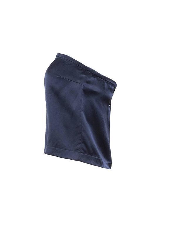 Maison Martin Margiela Blue Silk Strapless Top 3