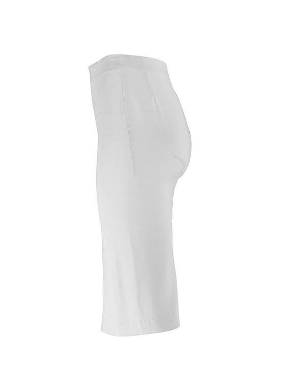 Gray 20th Century Maison Martin Margiela White Silk Asymmetric Seam Skirt For Sale