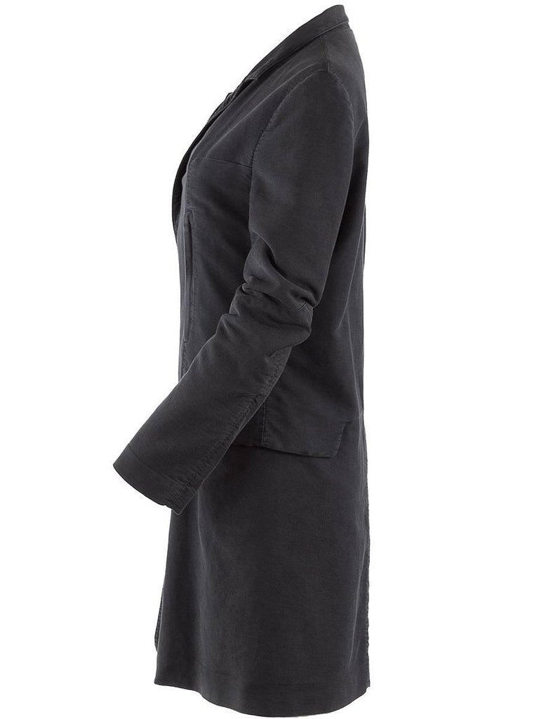 Undercover NWT charcoal cotton car coat with multiple front pockets with zip closures and a slight padding to the material. Double front zipper and two side flap pockets.
