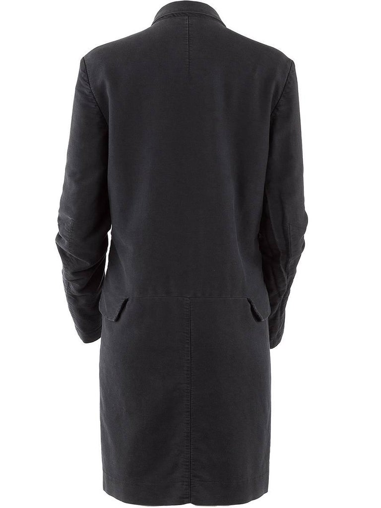 Black Undercover Clothing Charcoal Cotton Zip Pocket Car Coat For Sale