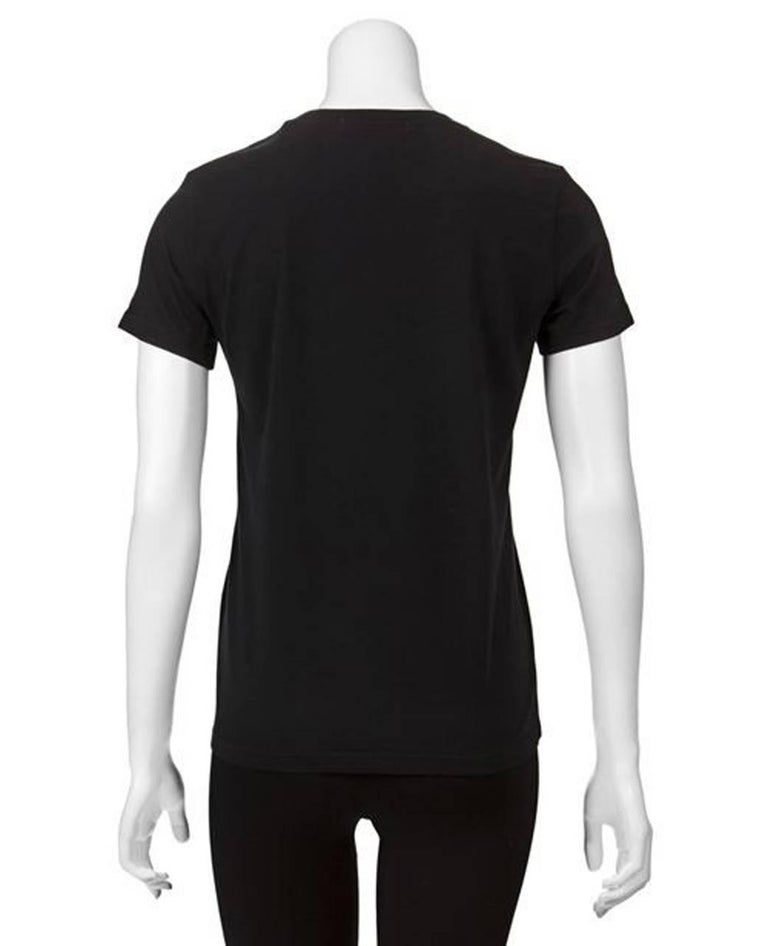 Women's Undercover Black Cotton Helvetica T-Shirt For Sale