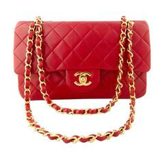 Chanel Red Medium Flap bag, 1989