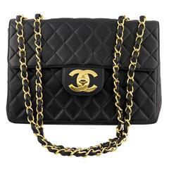 1994 Chanel Black Maxi Flap Bag