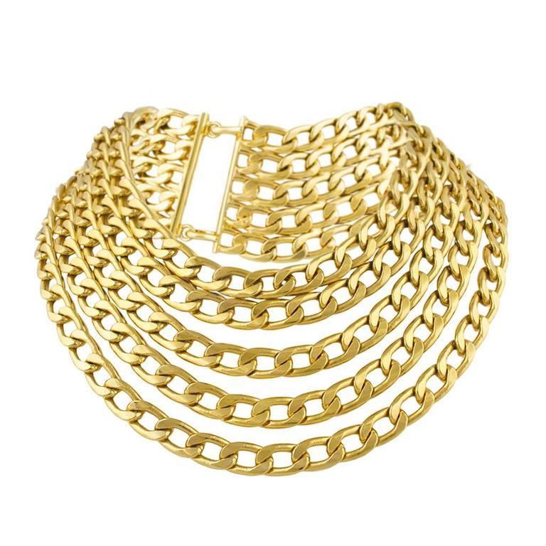Chanel 1970's Multi Chain Necklace 1