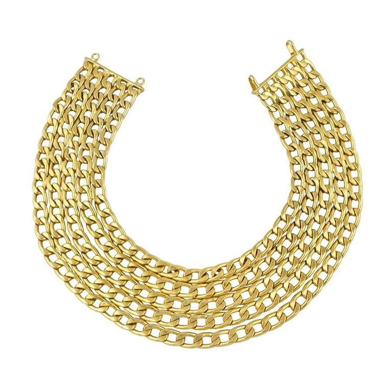 Chanel 1970's Multi Chain Necklace 2