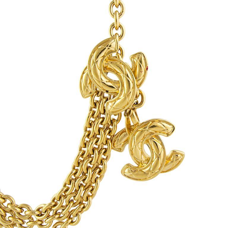 Chanel 1980's CC Chain Belt  3