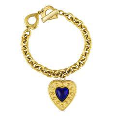 YSL Heart Charm Chain Bracelet