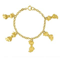 Chanel Bow Charm Chain Necklace