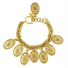 Chanel 1980's Royal Crest Charm Bracelet