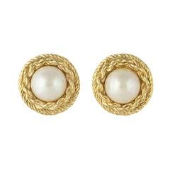 Christian Dior Pearlised Twist Earrings