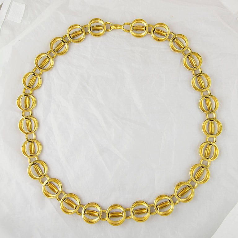 Chanel Quilted Gold Plated Chain Belt 1980's  3