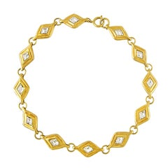 Chanel Crystal Lozenge Necklace