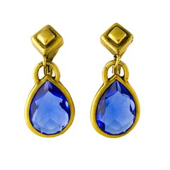 YSL Blue Chandelier Earrings