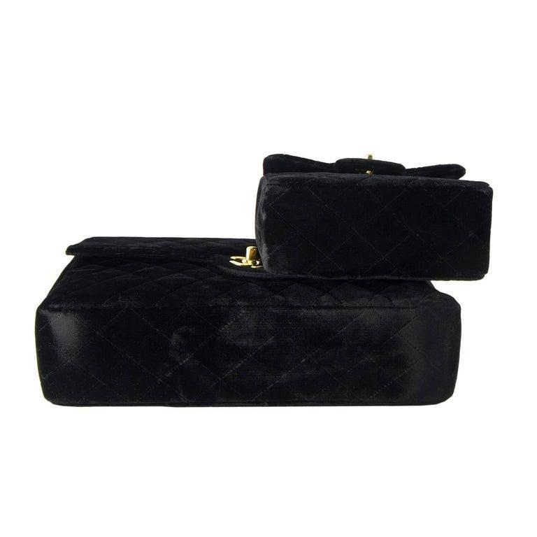 Chanel Velvet Double Kelly Bag 3