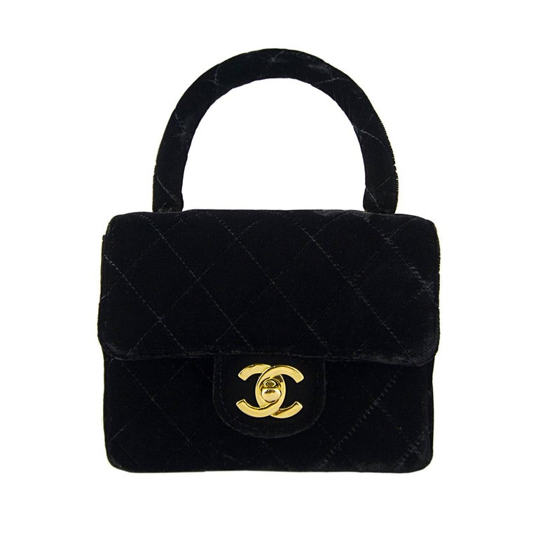 Chanel Velvet Double Kelly Bag 2