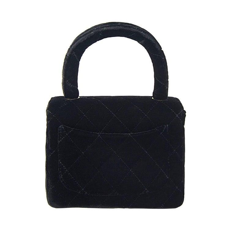 Chanel Velvet Double Kelly Bag 6