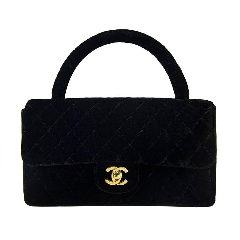 Chanel Velvet Double Kelly Bag 4