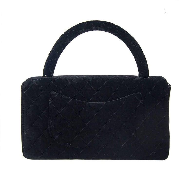 Chanel Velvet Double Kelly Bag 8
