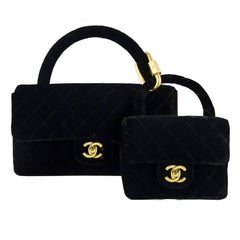 Chanel Velvet Double Kelly Bag
