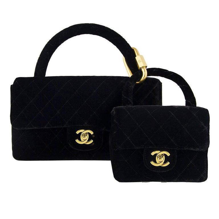 Chanel Velvet Double Kelly Bag 1