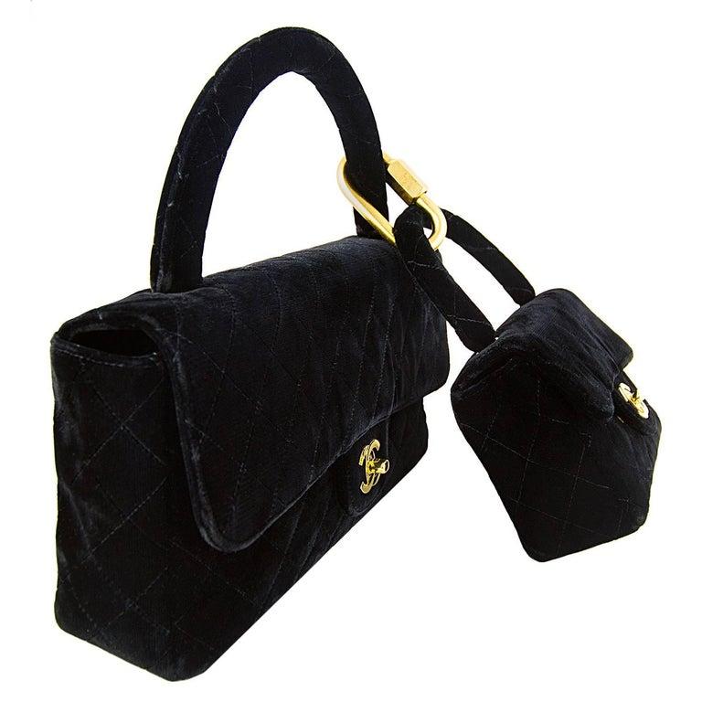 Chanel Velvet Double Kelly Bag 5