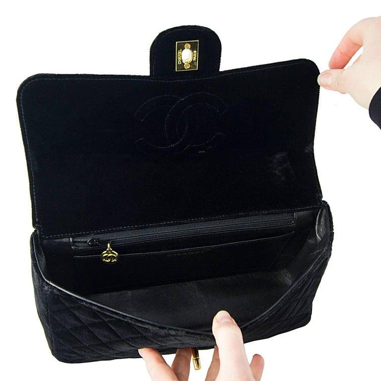 Chanel Velvet Double Kelly Bag 9