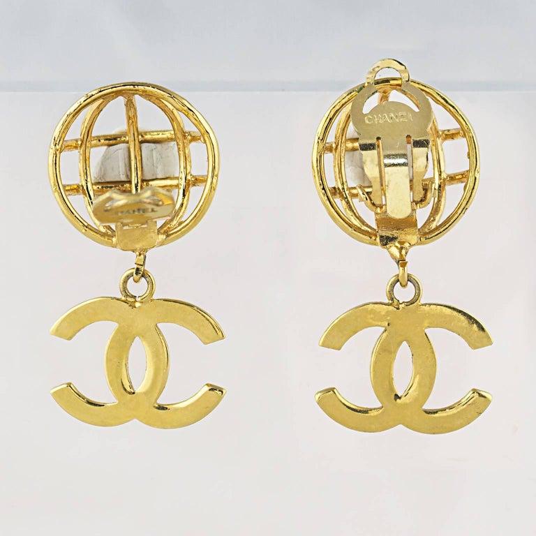 Chanel CC Logo Earrings 2