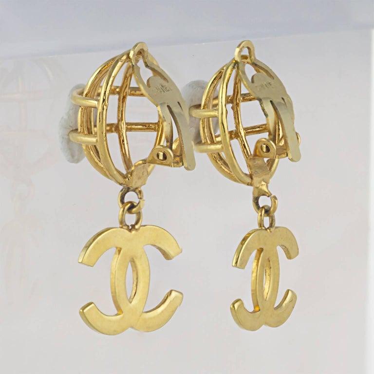 Chanel CC Logo Earrings 3