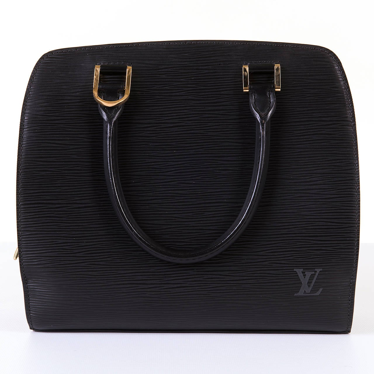 A Super Louis Vuitton 'Pont-Neuf' 25cm Black Epi Bag 3