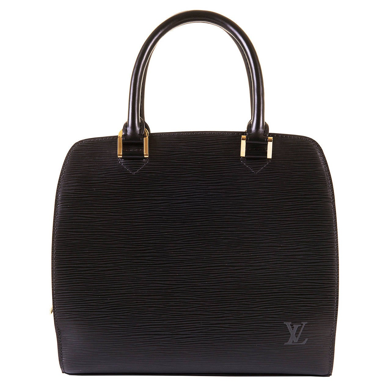 A Super Louis Vuitton 'Pont-Neuf' 25cm Black Epi Bag 1
