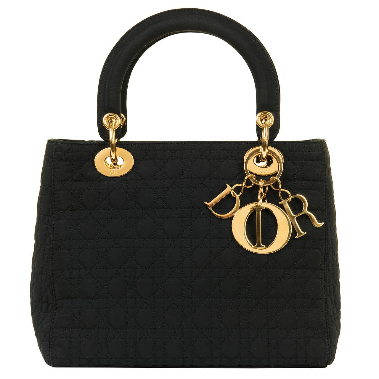 WOW! Dior 'Lady Dior' 25cm Black Quilted Bag with Goldtone Hardware 2