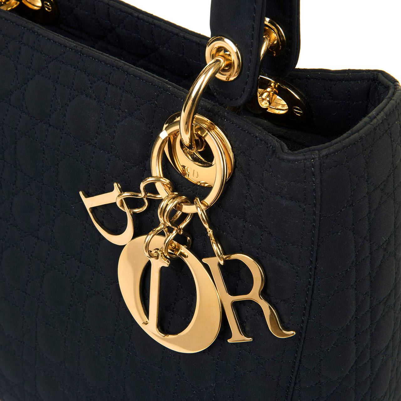 WOW! Dior 'Lady Dior' 25cm Black Quilted Bag with Goldtone Hardware 3