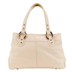 TRES CHIC! Spring/Summer Jaeger of London Large Cream Grained Leather Tote Bag
