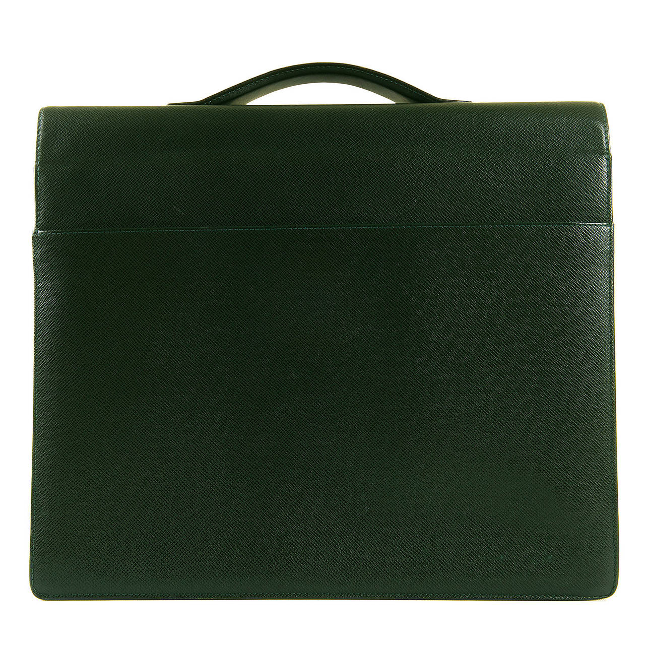 MAN GIFT! Pristine Louis Vuitton 'Tobol' Attache Case in green Taiga Leather 2