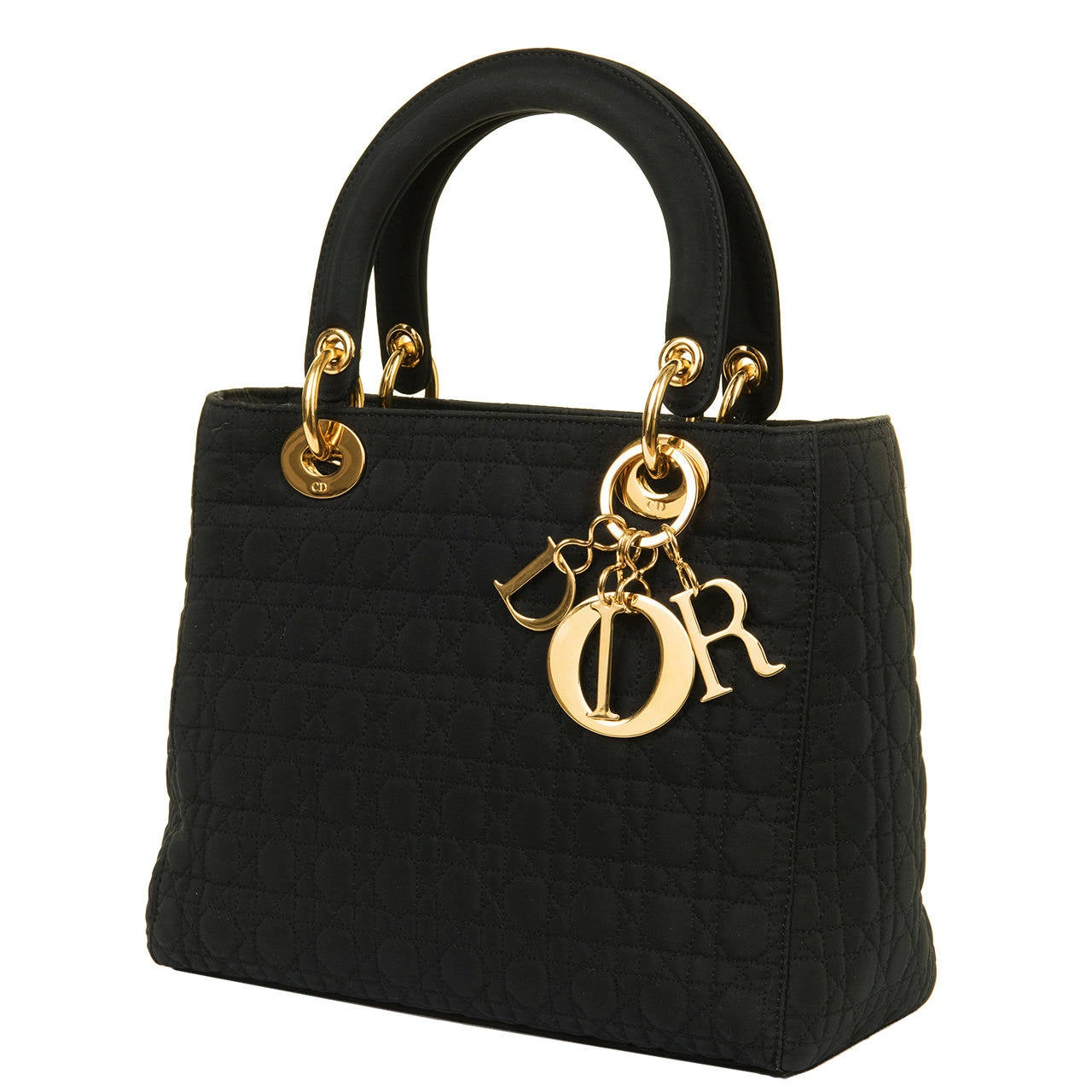 WOW! Dior 'Lady Dior' 25cm Black Quilted Bag with Goldtone Hardware 1