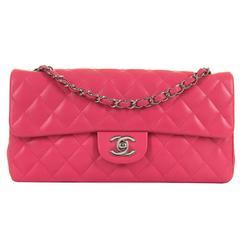 PRISTINE Chanel Rose Pink 25cm Lambskin Medium Flap  Sac 'Timeless' Shoulder Bag