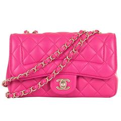 Pristine Chanel Lipstick Pink 'Chic Quilt' Shoulder Bag with Satin Gold Hardware