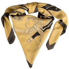 VERY RARE Vintage Hermes Silk Scarf 'Cochere Des Ecuries Imperiales'