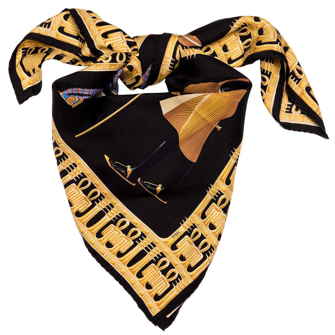 hermes silk scarf tutankhamun by dimitri