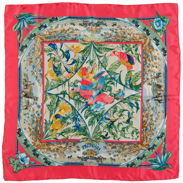 Hermes Silk Scarf Tropiques By Toutsy Bourthoumieux At