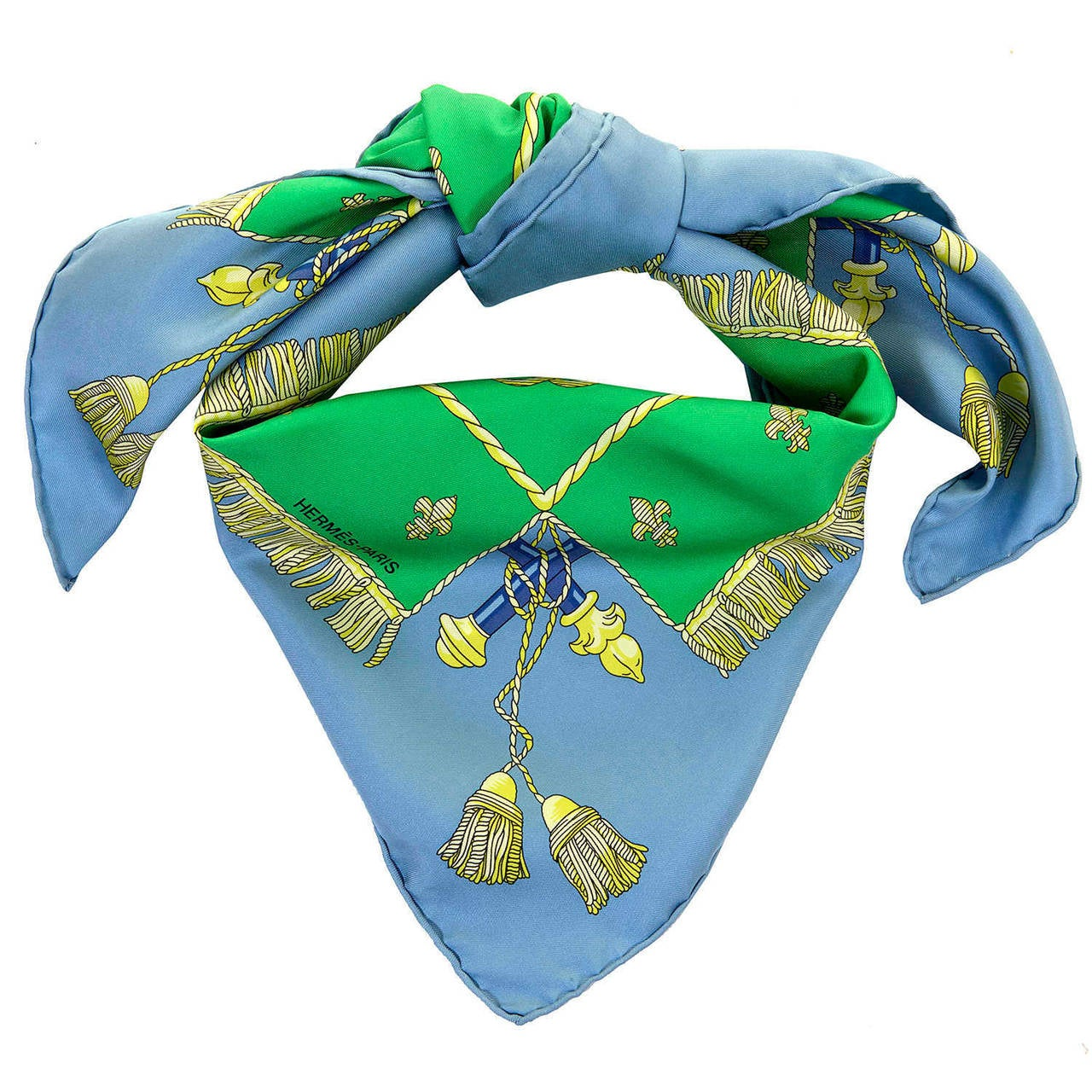 A VERY RARE Vintage Hermes Silk Scarf Designed in 1953 by Hugo Grygkar 2