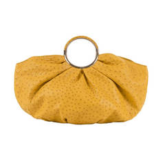 VERY RARE A Limited Edition Dior Yellow Ostrich-Skin Handbag & Matching Purse