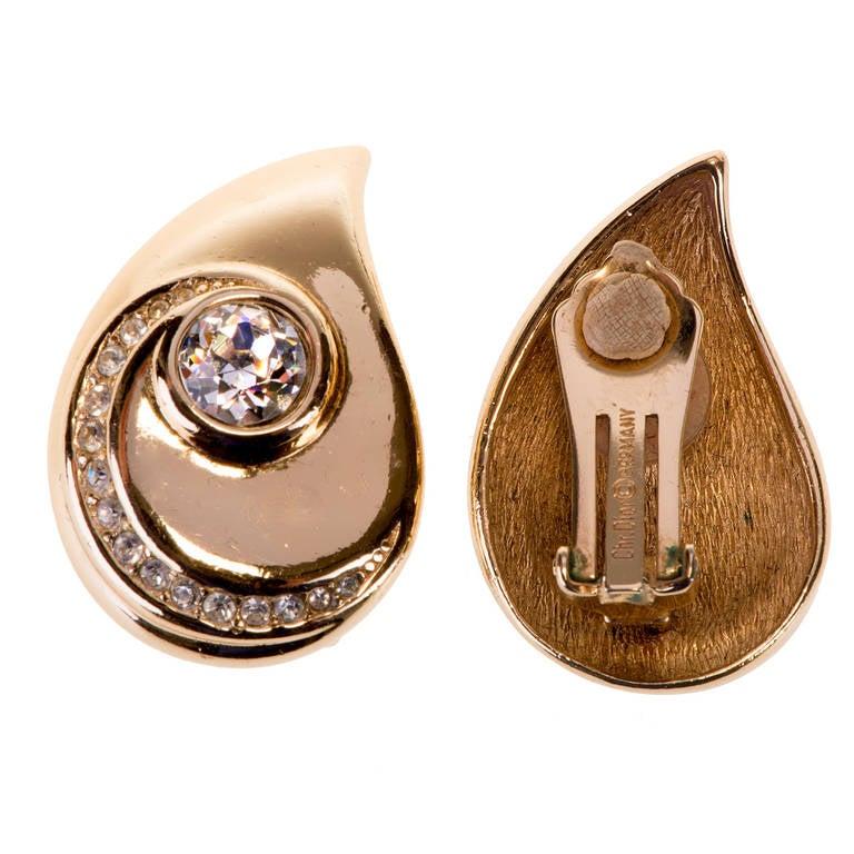 Dior 'Teardrop' Earrings 2