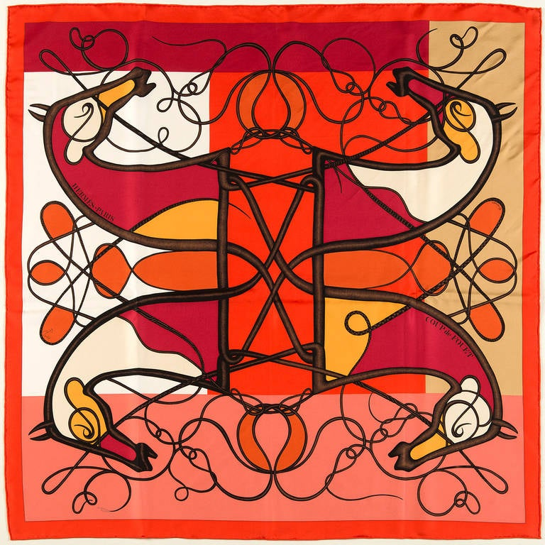 affordable bag - A 'Picasso' inspired Hermes Silk Scarf by Florence Manlik at 1stdibs