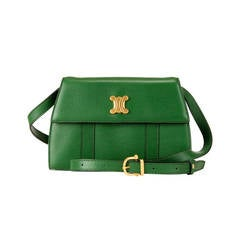 A Rare Céline Green Leather Shoulder/Clutch Bag