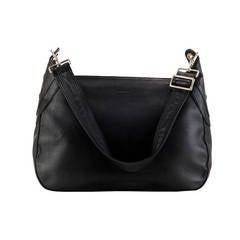 A  Super Large Burberry Black Calfskin shoulder/crossbody  Bag / Silver Hardware