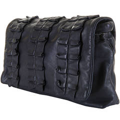 A  WOW! Dolce & Gabbana 'Miss Lexington' Large Black Clutch bag in Lambskin