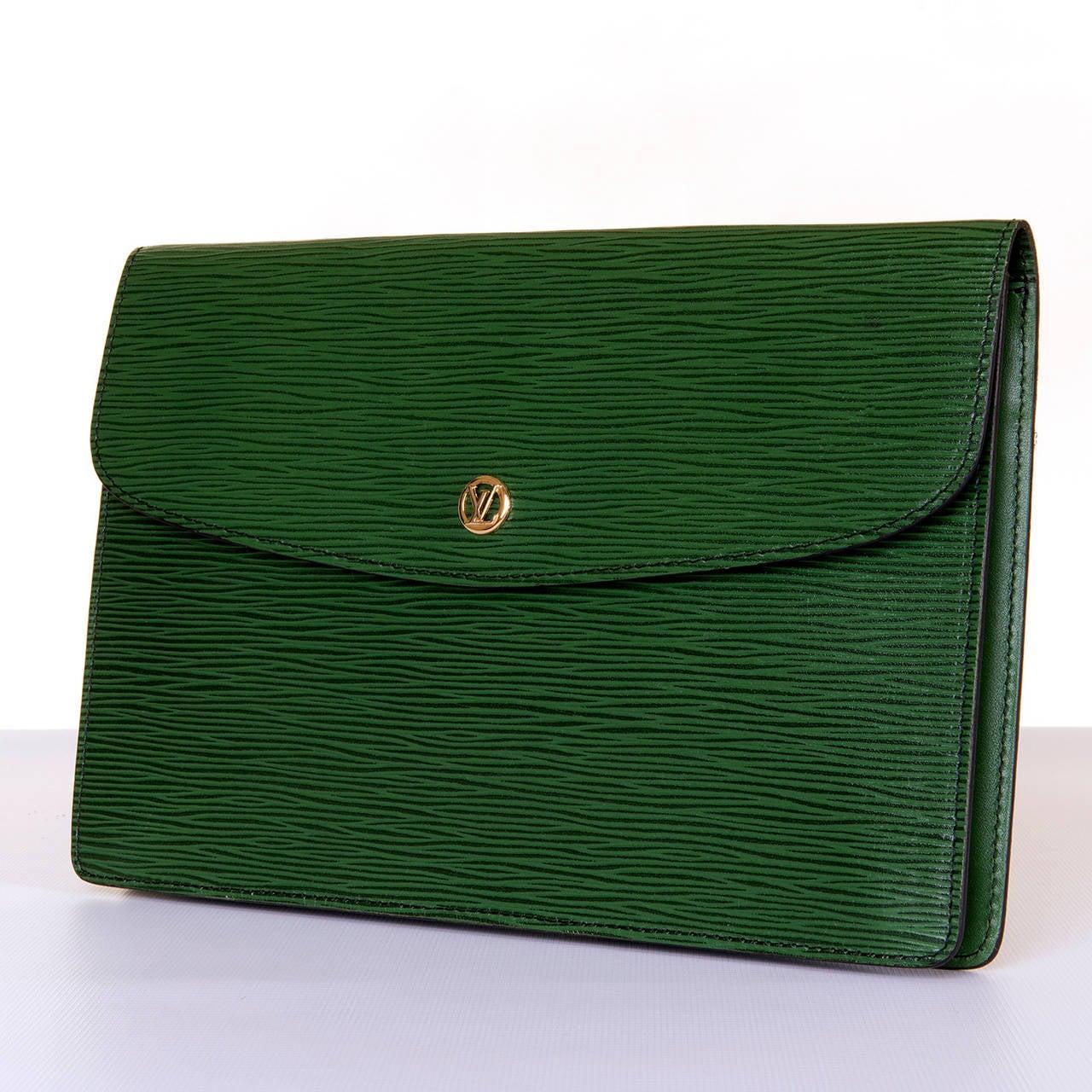 Louis Vuitton 'Menthe' Epi-Leather Clutch Bag 2